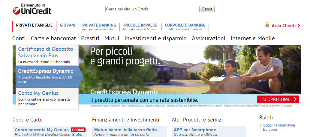unicredit sito