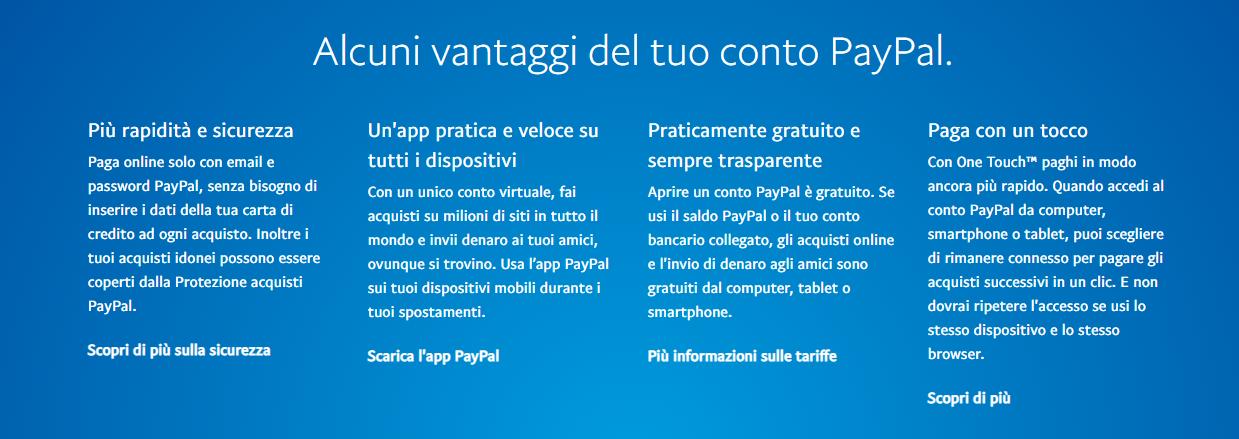 Vantaggi Paypal