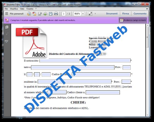 Disdetta-Fastweb