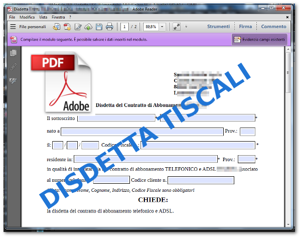 Disdetta-Tiscali