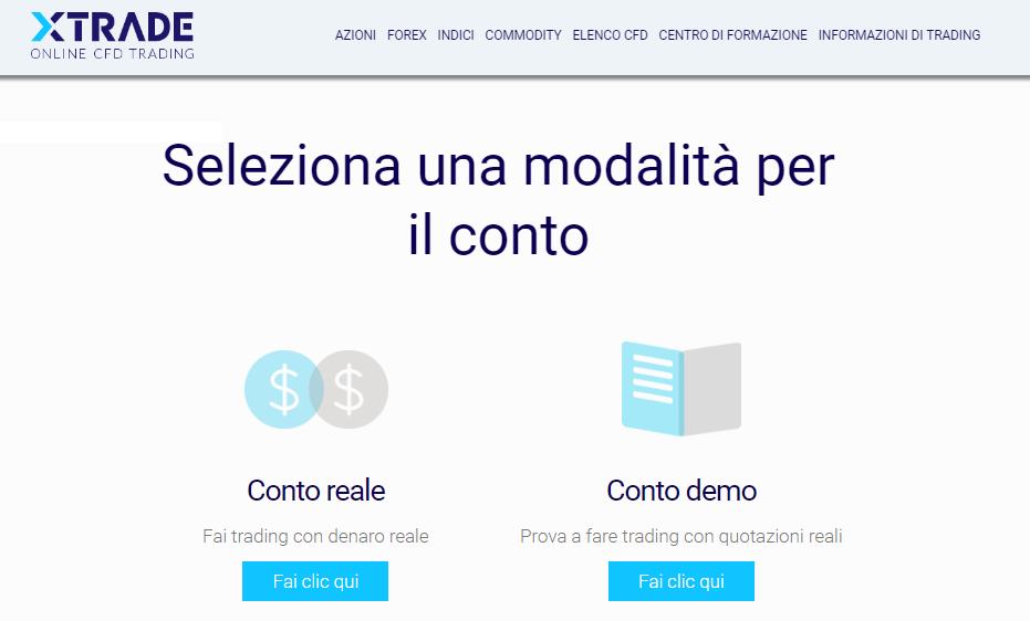 Xtrade-trading-conto-demo