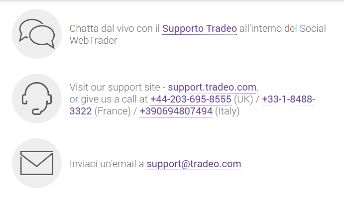 assistenza Tradeo
