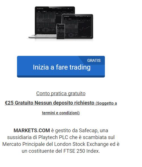 markets.com apertura conto demo