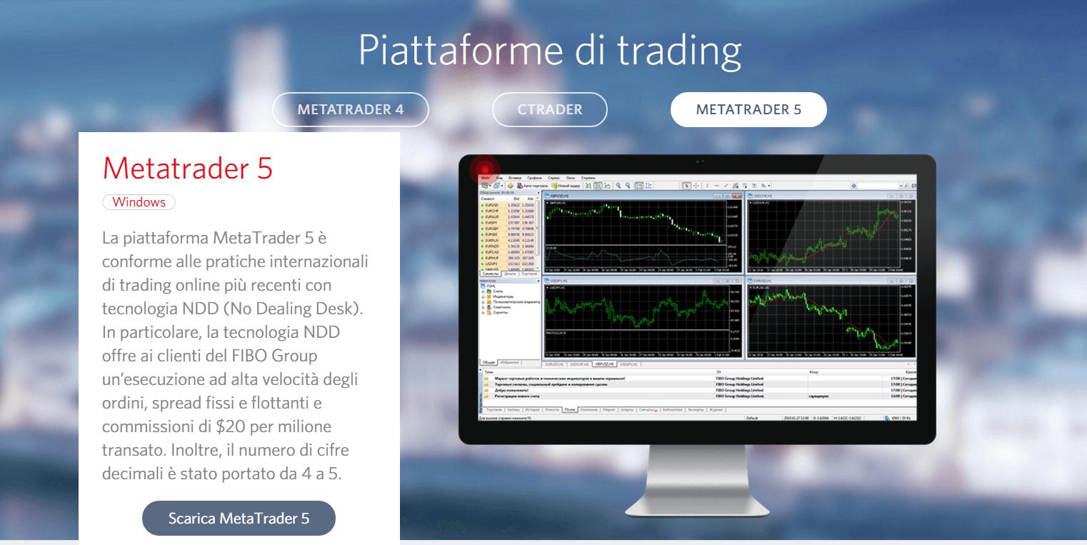 Fibogroup - piattaforma di trading mt5