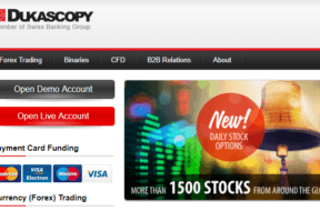 Dukascopy: account di trading online