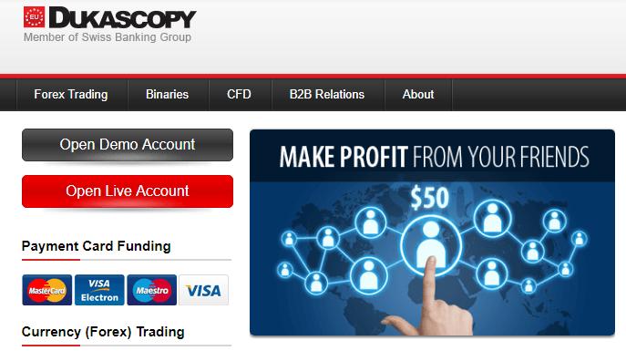 Dukascopy formazione trader