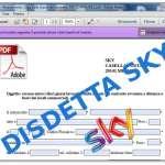 Modulo disdetta Sky: fac-simile -Legge Bersani – Costi